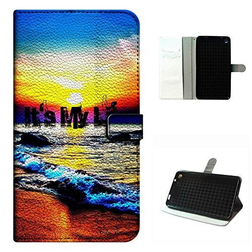 - Studio 7.0 II case, SoloShow(R) BLU Studio 7.0 II S480U/S480L 7.0 inch case PU Leather Wallet Flip case, Its my life Colorful Sunrise pattern (5)