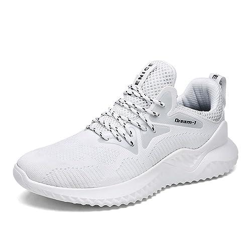 buy online 93c35 aec18 populalar Uomo Scarpe da Ginnastica Sportive Running Atletico Allacciare  Sneakers White 38 EU