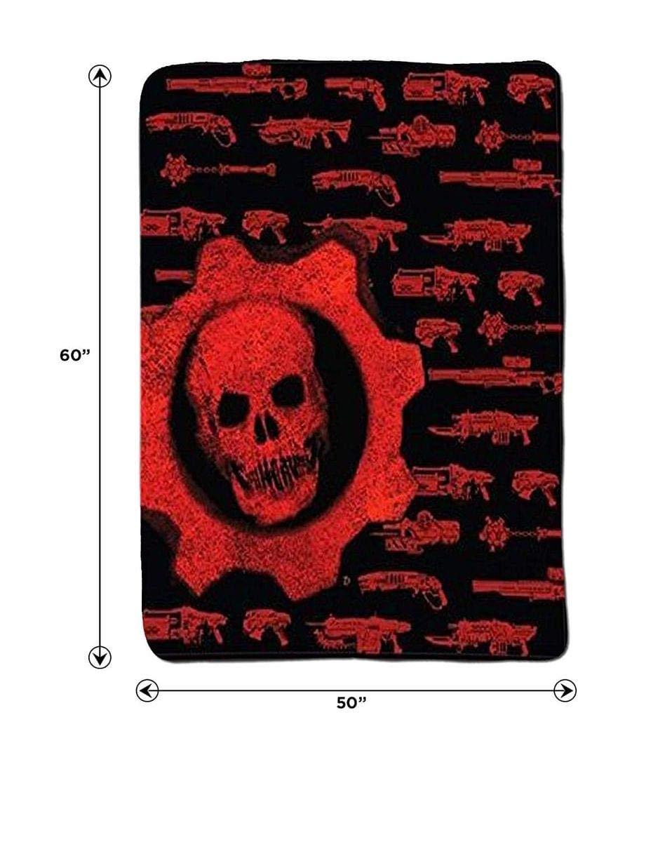 Gears of War Crimson Omen Guns Lightweight Fleece Throw Blanket ...