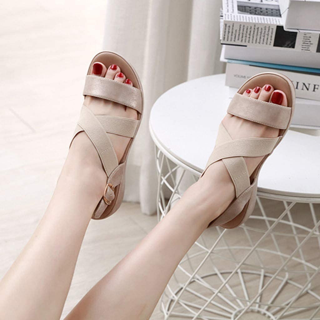 Women Summer Open Toe Sandals Comfortable Breathable Casual Slippers Shoes Platform Wedges Sandals Sport Sneakers
