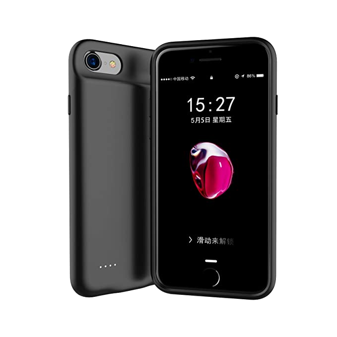 info for 63100 ee3f9 iPhone Battery Charging Case for iPhone 8 Plus/7 Plus/6 Plus/6s Plus  Battery Case with Lightning Port,Ultra Slim Protective iPhone 8Plus/7Plus  ...