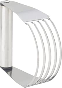 Mrs. Anderson's Baking 45752 Pastry Cutter and Dough Blender, 5-Blade, Stainless Steel