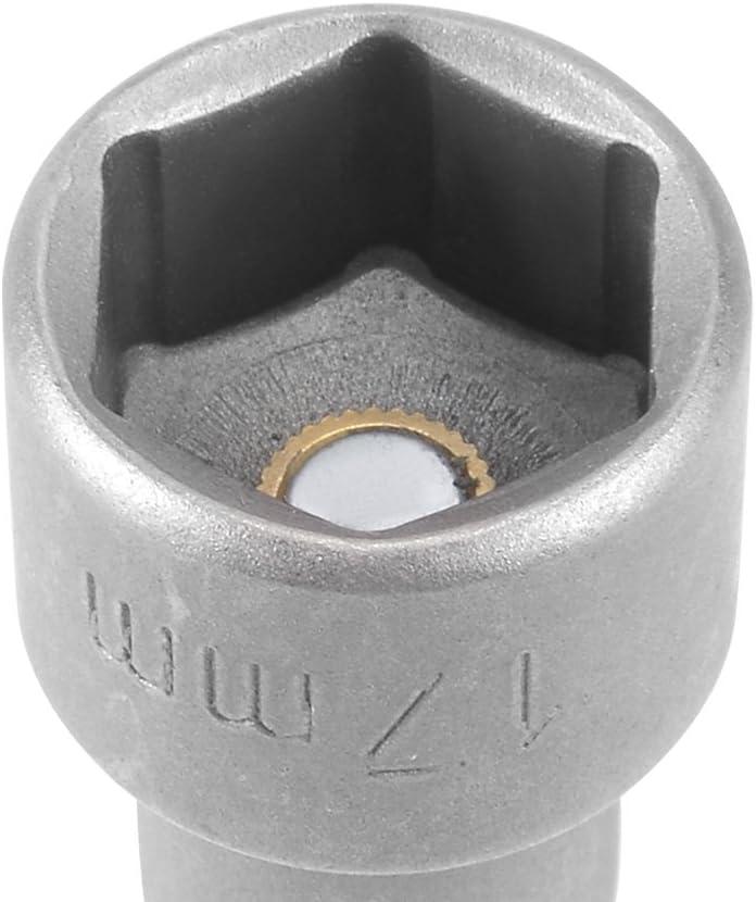 1//4 Tige changement rapide Cr-V 17mm Poseur noix magn/étique 2.5 Long