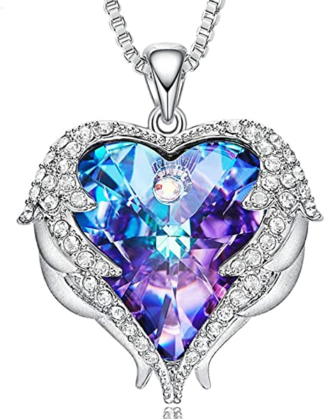 Nota Vientre taiko módulo  DD. store Collar con corazón de mar de Mujer Swarovski Elements Crystal  Heart Clavicle Chain,Purple: Amazon.es: Deportes y aire libre