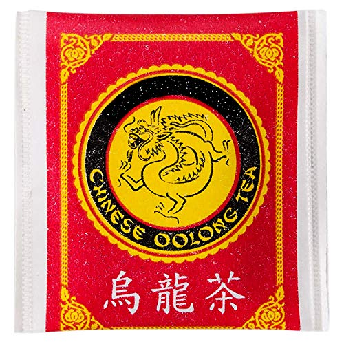 Chinese Oolong Tea Bags (50 Pack) Traditional Smooth Chinese Flavor, Caffeinated Chinese Oolong Tea Bags. Best Oolong Tea Bags Served at Restaurants.