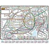 壁掛カレンダー【2020年 1月始まり】東京近郊路線図 CK-103