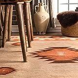 nuLOOM Shyla Abstract Wool Area Rug, 6' x 9', Beige