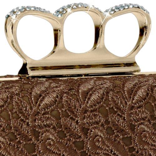 Marron CASPAR pour Accessoires amp; femme Pochette Taschen qg1AnqF