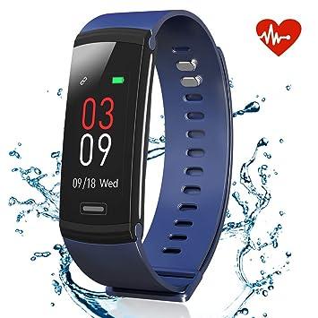 AKASO Pulsera de Actividad Inteligente GPS Deportiva Impermeable Hombre Mujer Smartwatch Pulsómetro con Monitor de Ritmo Cardíaco Sueño Caloría ...