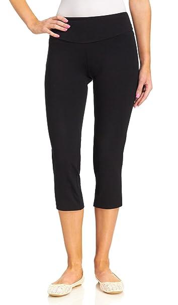 15ca89d38ac06 Teez-Her Women's The Skinny Capri - Plus Size, Black, 2X: Amazon.ca ...