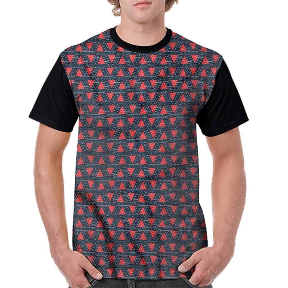BlountDecor Performance T-Shirt,Angled Stripes Triangles Fashion Personality Customization