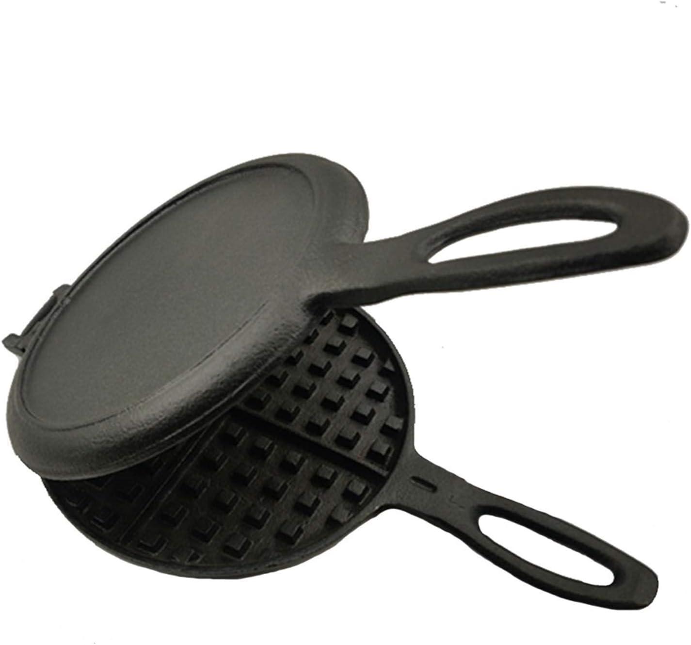 toaster Waffle Maker, Professional Cast Iron Waffle Grill Pan, Sandwich Toaster, Cake Making Toast