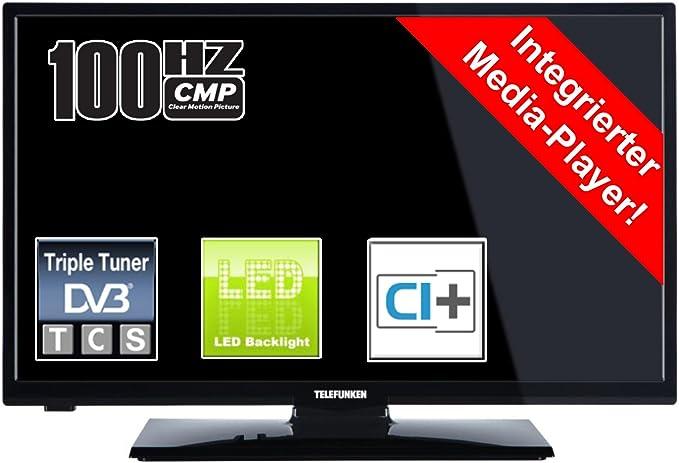 Telefunken l24h180 N3 61 cm sintonizador Triple DVB-T cts2 HDMI USB Reproductor Multimedia: Amazon.es: Electrónica
