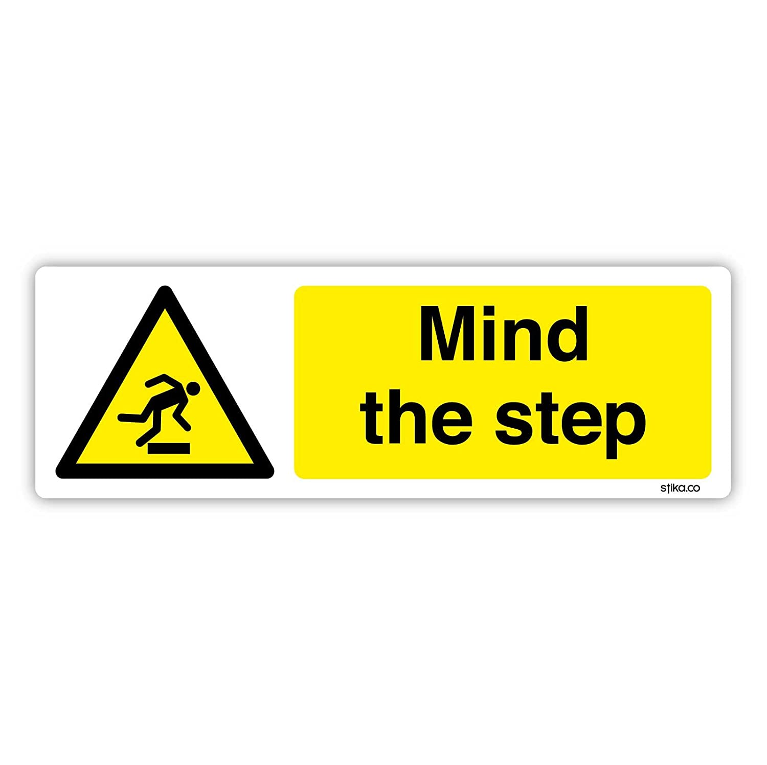 Warning Mind head//mind step Caution Mind your head Sticker//Self Adhesive Sign WG19