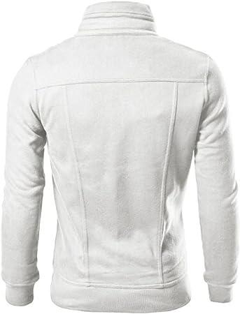 Yesmile Sweatshirts Chaqueta Casual de Algodón para Hombre Sudaderas con Cremallera sin Capucha Hombre y Camiseta Manga Corta Verano Playa Casual Fiesta