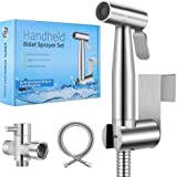 【 2020 New Version】Handheld Bidet Toilet Sprayer, Premium Stainless Steel Bathroom Bidet Sprayer Set, Baby Cloth Diaper Spray