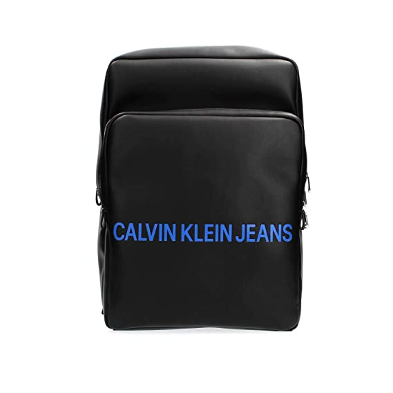 Uomo Backpack Zaino Black Sq Jeans Klein Smooth K40k400372 Calvin 0O8knPw