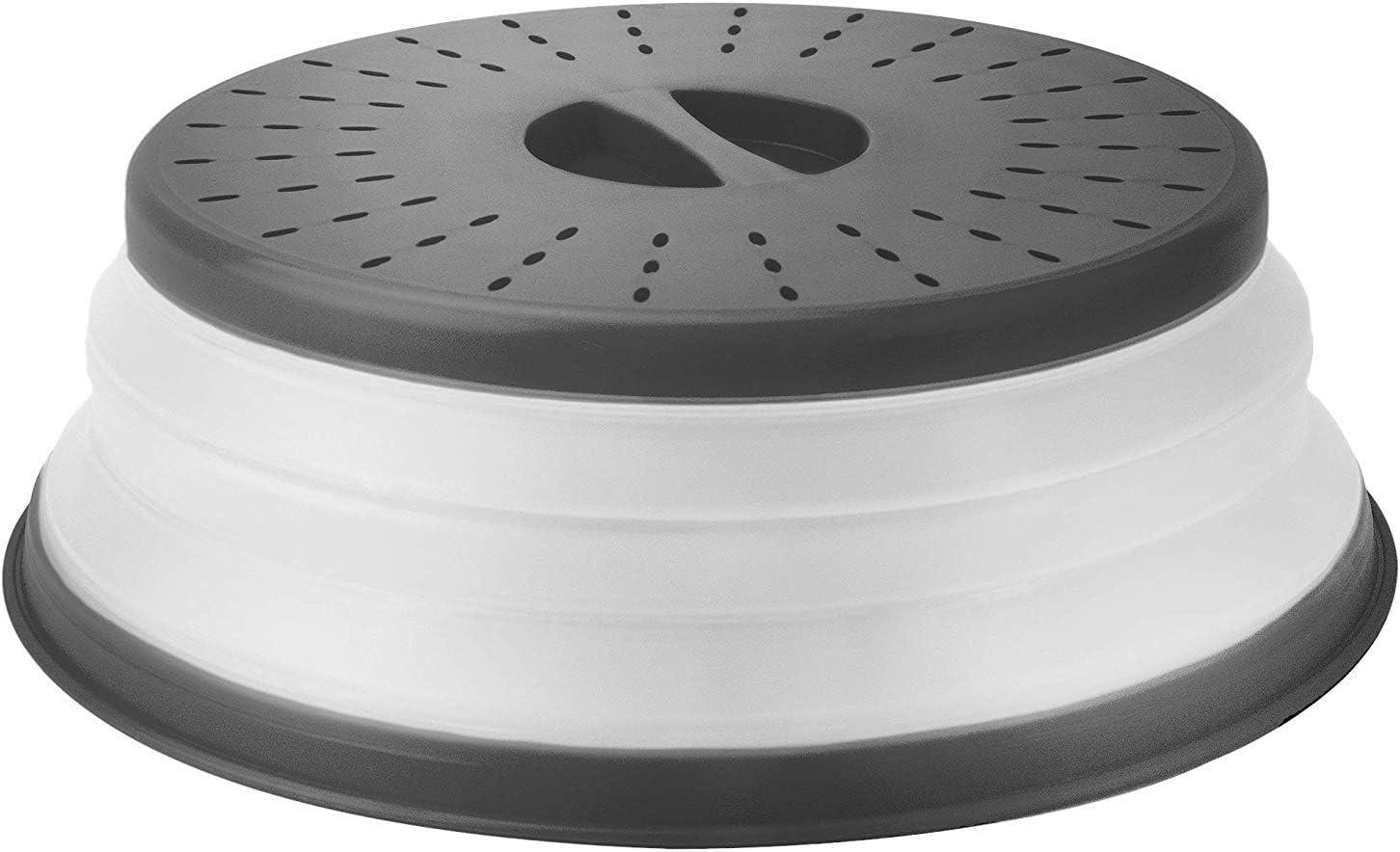 Kitchen Microwave Food Cover Plate Vented Splatter Clear Plastic Lid D3U5
