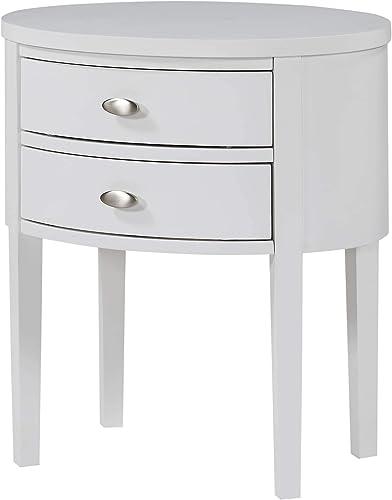 Greyson Living Valerie 2-Drawer Oval Nightstand