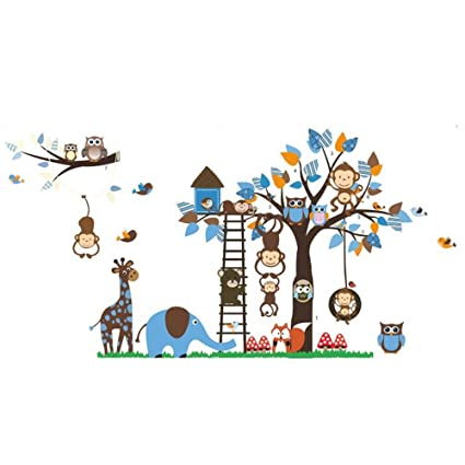 Guluded Cartoon Owl Wall Sticker Wall Decal Home Decor Wall Poster Paper Murals Decal Removable Car