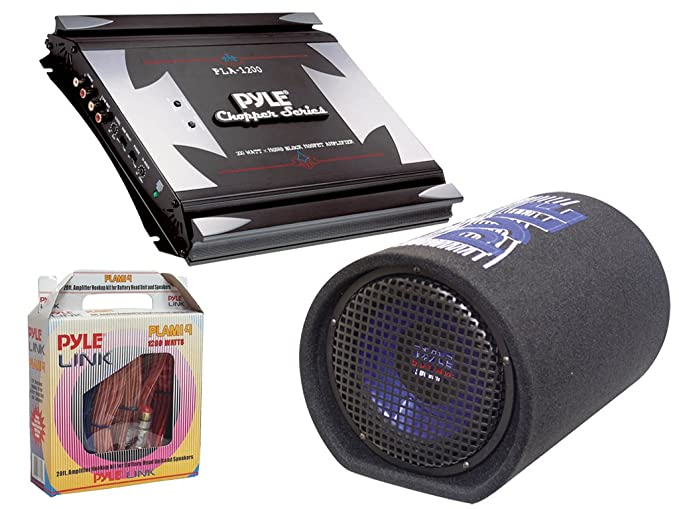 pyle powerful amplifier subwoofer installation package for car truck