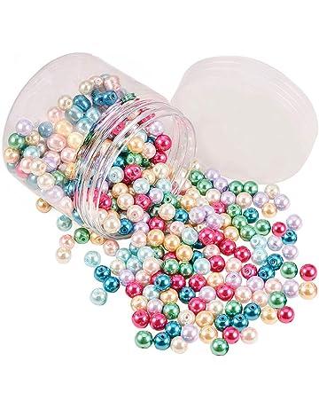 Rose Plastique Coeur Perles PK 60