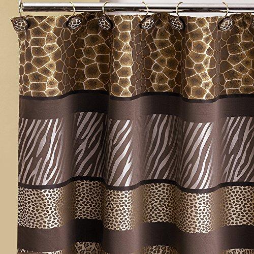 Popular Bath Safari Stripes Shower Curtain 70X72 - Safari Print Curtains