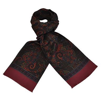 TOUTACOO, Foulard en soie CARVEN pour Homme - Couleur Cachemire XL - Rouge f4c914c11fd