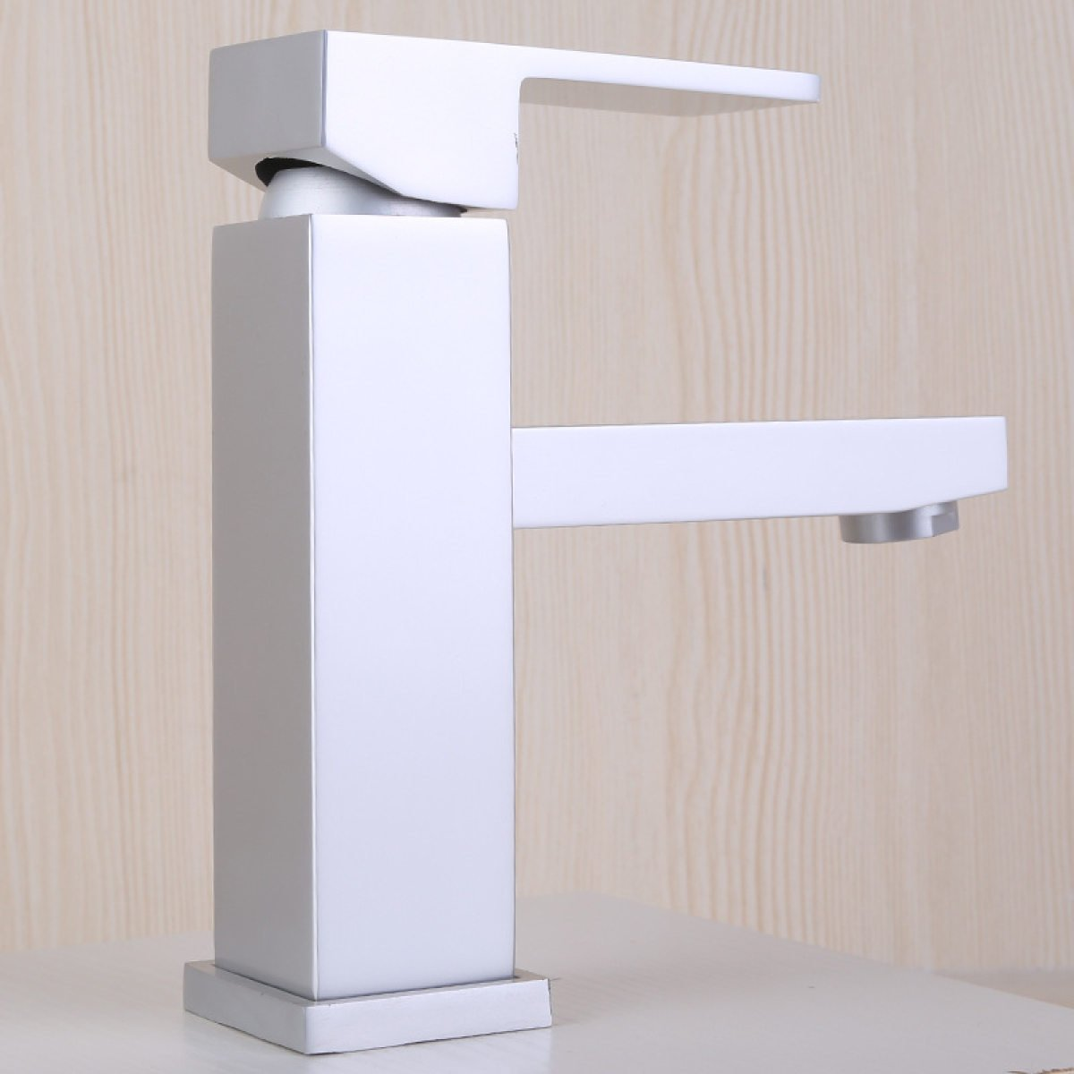 LDONGSH Space Aluminum Double Hole Basin Bathroom Hotel Bathroom Faucet Tap