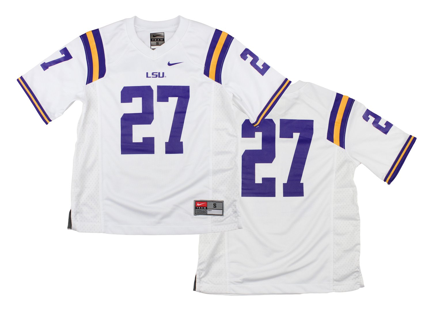 Nike Jungen NCAA Big Youth Lousiana State LSU Tigers   27 Fußball Jersey, Weiß