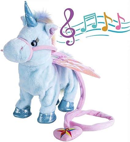Soft Kid Walking Talking Push Unicorn Toy With Sing Song XMAS// Chidren Cute Gift
