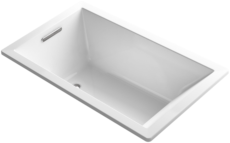 KOHLER K-1848-0 Underscore 60-Inch x 36-Inch Drop-In Bath with Reversible Drain, White by Kohler