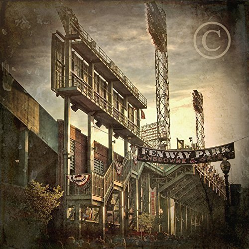 (Fenway Park Lansdowne St and Gate C Vintage Print - Boston Prints - Red Sox Wall Art - Choose PRINT or CANVAS )