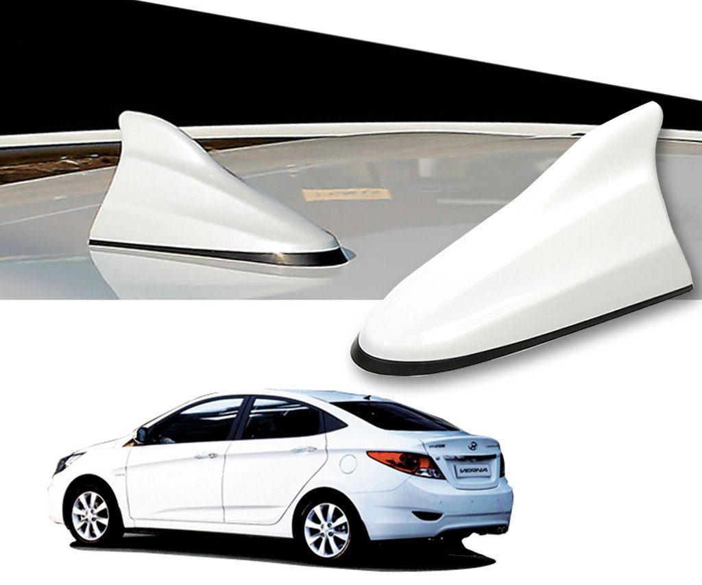 Auto Pearl White Shark Fin Replacement Signal Receiver Antenna For Hyundai Verna Wiring Diagram Fluidic Car Motorbike