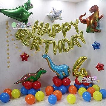 Decoración de cumpleaños Tema de Dinosaurio Bolsa de Globos ...