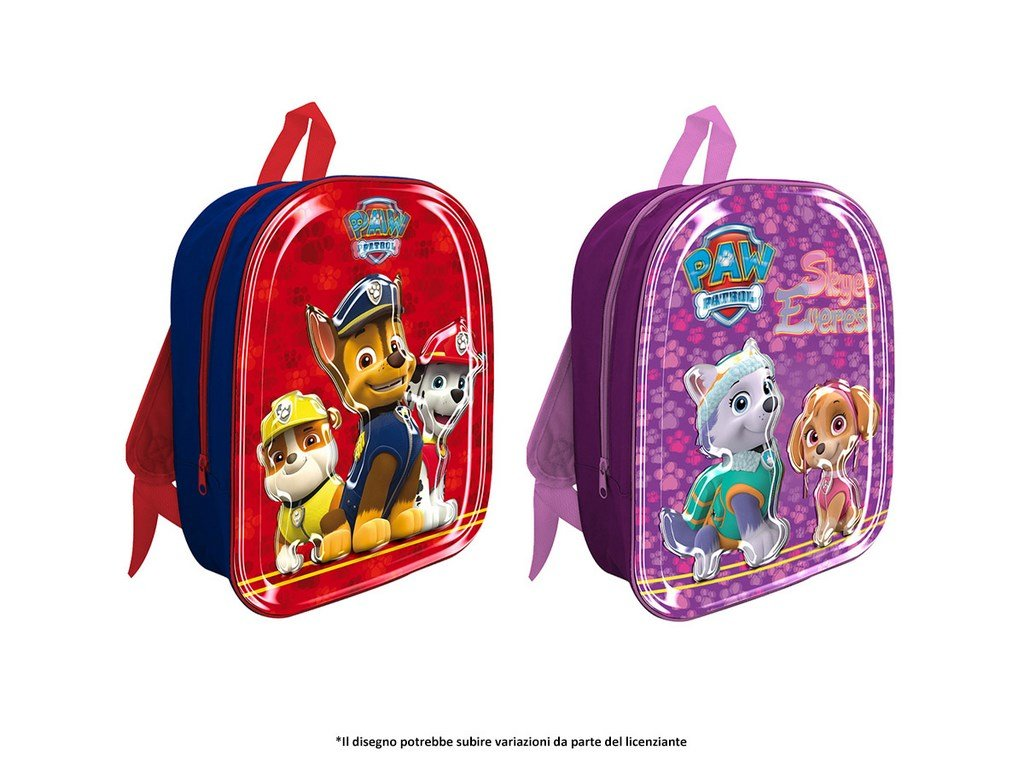 Export.CM 097399 Paw Patrol Girl 6D バックパック 32 x 27 x 10 cm、ライトピンク/パープル B07FN3Y1PS