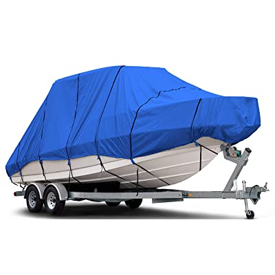 """Budge B-620-X6 600 Denier Hard/T-Top Boat Cover Blue 20'-22' Long (Beam Width Up to 106"""") Waterproof, UV Resistant: Automotive"""