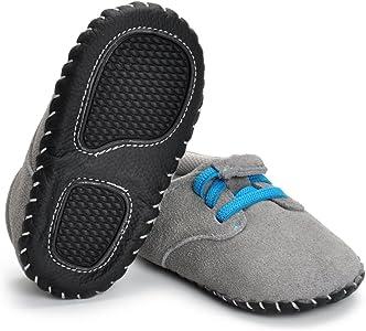 Estamico-Zapatillas de Cuero Genuino Suave para bebés niños ...