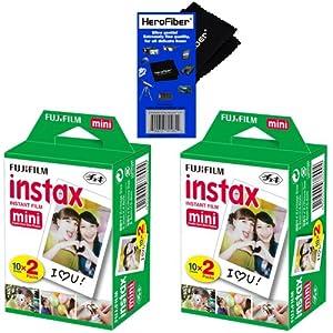 Fujifilm Instax Mini Twin Pack Instant Film - for Fujifilm Instax Mini 7s, Mini 8, Mini 25, Mini 50S, Mini 90 & SP-1 Smartphone Printer