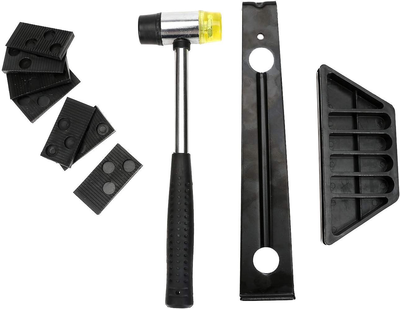 bloc de taraudage en bois barre de traction /étendue et outils de montage au sol /à maillet /à double t/ête Yideng Kit dinstallation pour parquet stratifi/é avec 20 entretoises