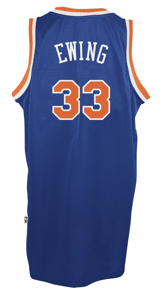 190260227 Amazon.com   adidas Patrick Ewing York Knicks NBA Throwback Swingman Jersey  - Blue   Clothing