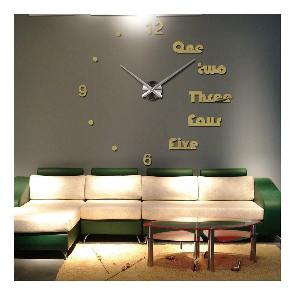 Amazon.com: Alrens(TM Luxury Large Modern Acrylic Quartz Wall Clock Mirror Effect DIY Clocks Reloj De Pared Horloge Murale Living Room Bedroom Oversized ...