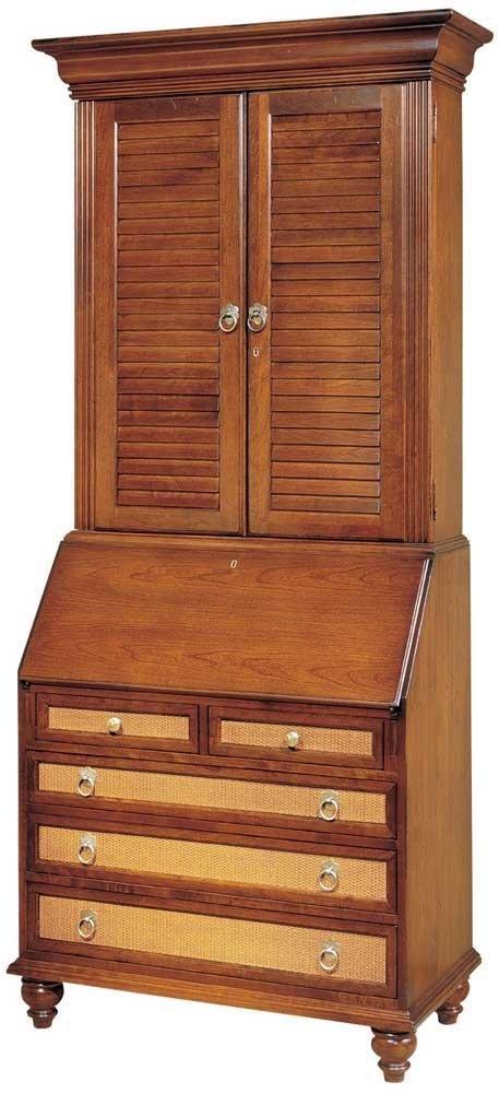 Secretary Desk with Louvered Door Hutch, Harvest 83785-OG-83254-O-379423