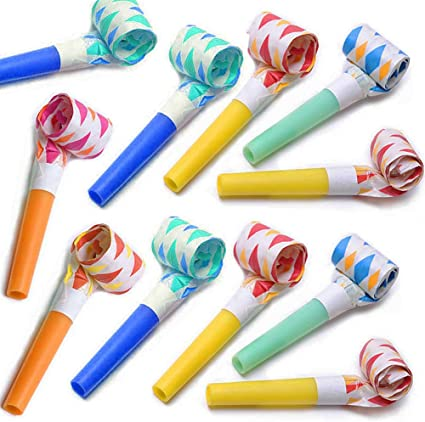 Assorted Colors Deluxe Blowouts Noise Maker