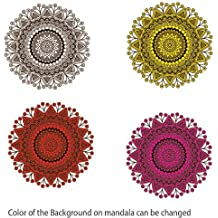 Mandala Art 2 Vinyl Decal Wall, Car, Laptop - Met. Gold - 50 inch