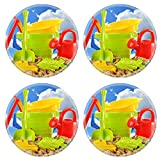 Liili Round Coasters Plastic children toys for playing in sandpit or on a beach over the blue sky Photo 20323663