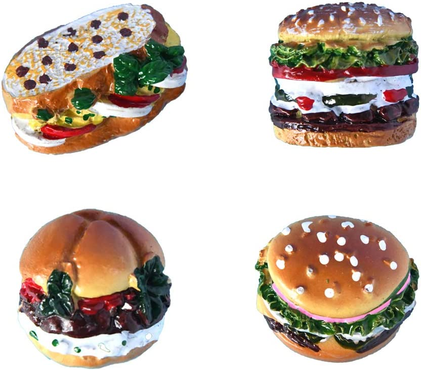 magnets strong mini magnets cute magnets hamburger magnets unique refrigerator magnets funny magnets for refrigerator 4pcs