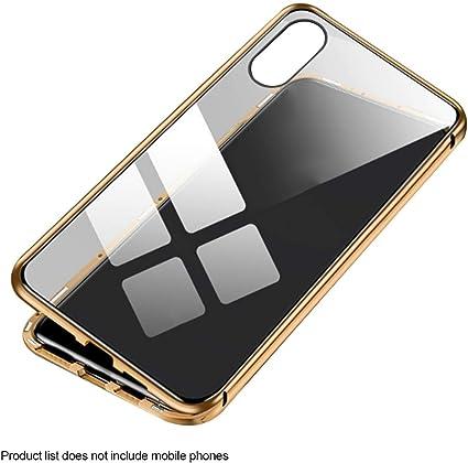 Fundas de metal magnéticas de vidrio templado de doble cara Estuche para teléfono compatible con iPhone XS Max Innovador: Amazon.es: Instrumentos musicales
