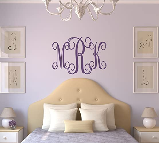Personalized Monogram Wall Decal   Monogram Wall Sticker