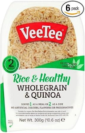 Veetee Dine In Rice - Juego de 6 especias de arroz y quinoa ...
